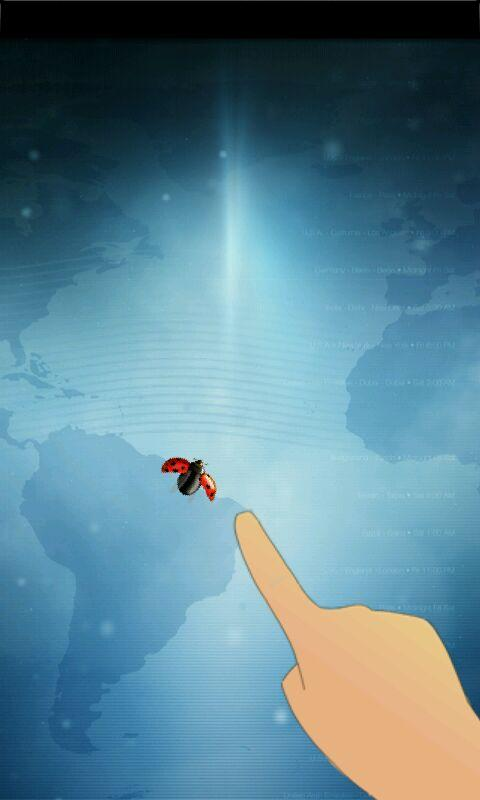 touch the ladybug to locate the crack